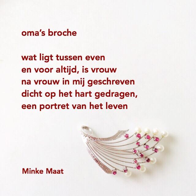 Oma's broche - Minke Maat