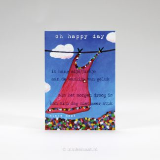 Poëziekaart oh happy day