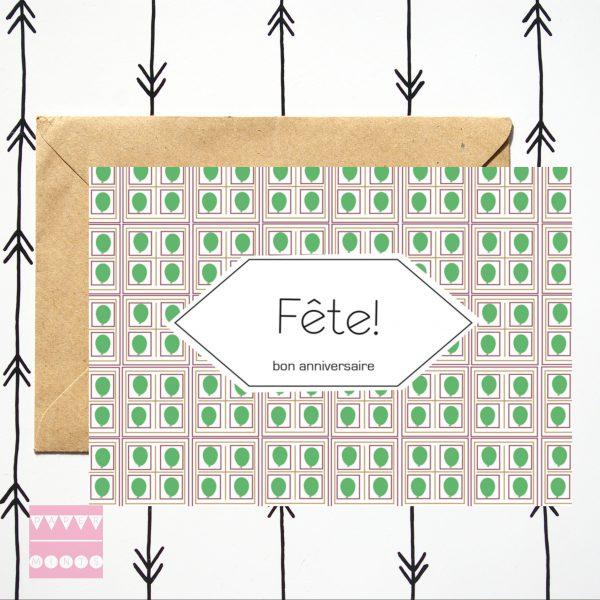 Kaart Fête groen