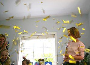 Overal confetti - foto Linda van Moerkerken