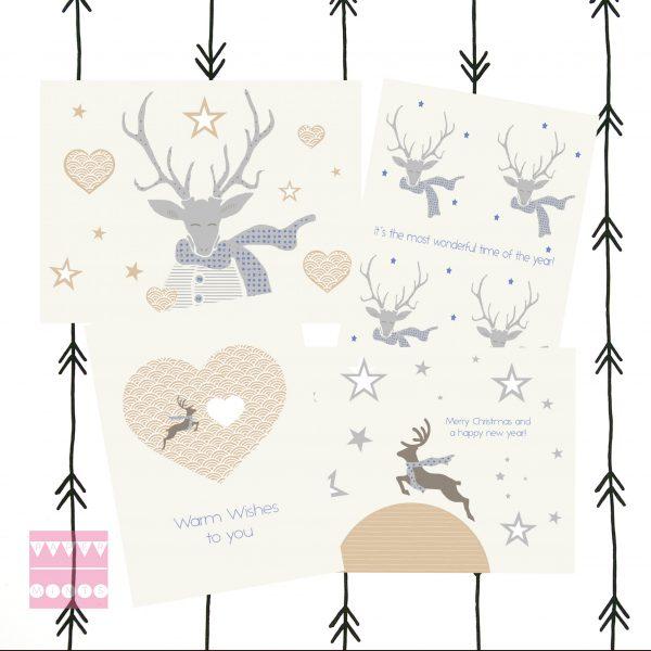 feestdagenkaartenset Mr Deer