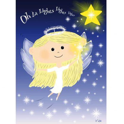 feestdagenkaart Oh la lights