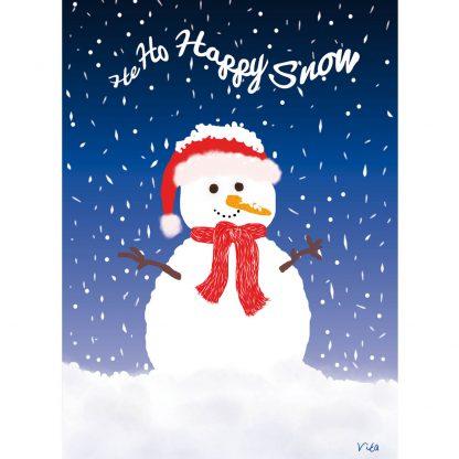 feestdagenkaart He Ho Happy Snow