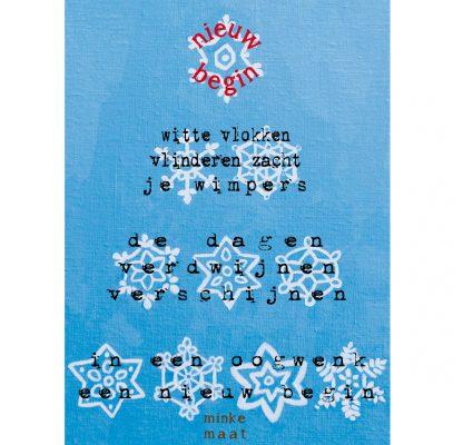 feestdagenkaart nieuw begin