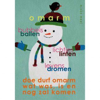 feestdagenkaart omarm