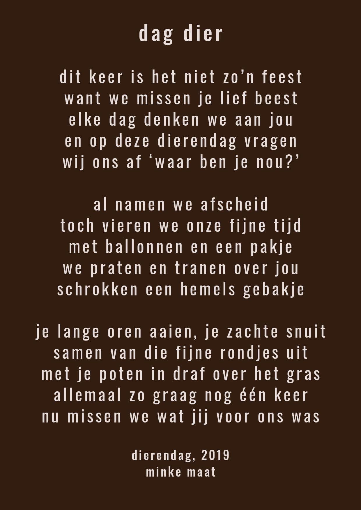 Gedicht Archieven Minke Maat Woord Beeld