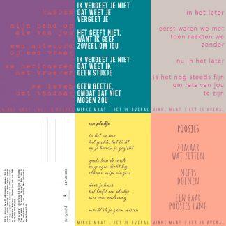 set van 5 poëziekaarten